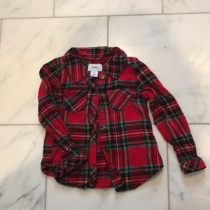 Toddler girl flannel shirt